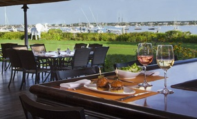 Bar and terrace dining at Brant Point Grill, White Elephant