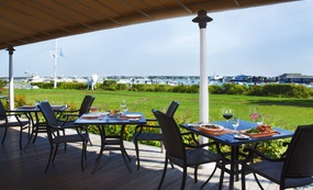 Terrace dining at Brant Point Grill, White Elephant