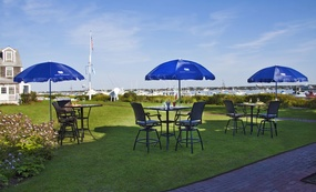 Tables on the lawn, Brant Point Grill, White Elephant